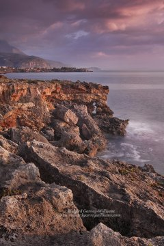 Photograph of coastline south of Stoupa in the Peloponnese