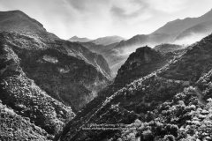 View along the Viros Gorge in the Peloponnese of Greece