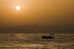 Sunset seascape photograph from Greek coast